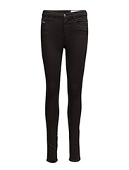 SKINZEE-HIGH L.32 TROUSERS - BLACK/DENIM