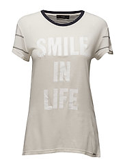 T-SMILE-T T-SHIRT - VAPOUROUS GRAY