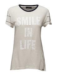 T-SMILE-T T-SHIRT - VAPOUROUS GRAY