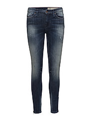 SKINZEE-ZIP TROUSERS - DENIM