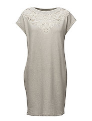 D-TELERI DRESS - GREY MELANGE B02B