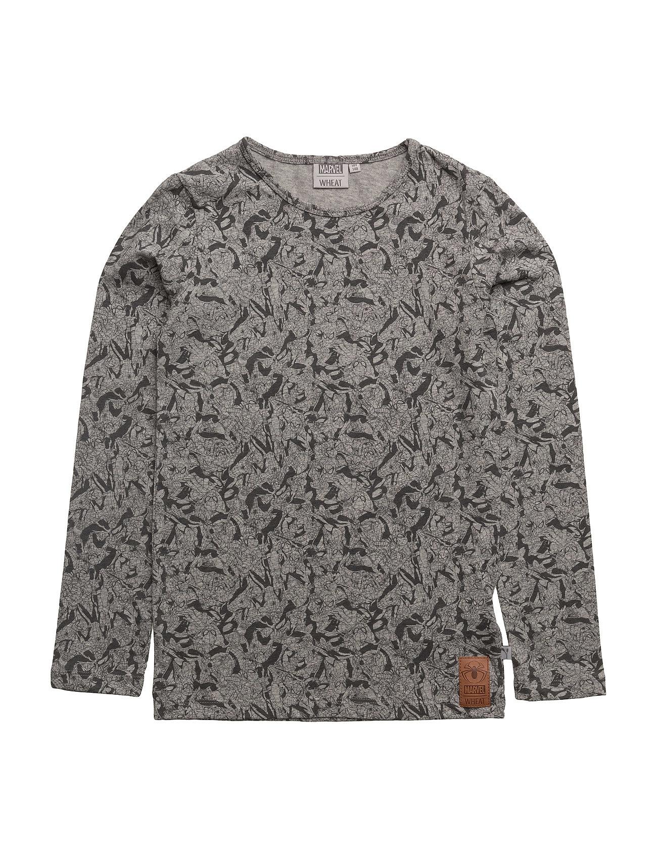 T-Shirt Spiderman Aop Disney by Wheat  til Børn i Melange Grey