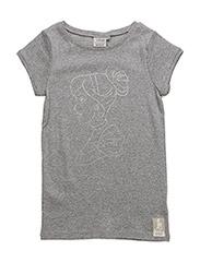 T-Shirt Cinderella Rhinestones - MELANGE GREY