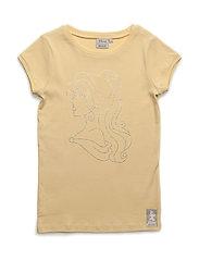 T-Shirt Belle Rhinestones - STRAW