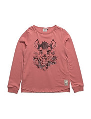 T-Shirt Bambi and Roses - PEACH ROSE
