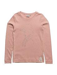 T-Shirt Anna Rhinestones - MISTY ROSE