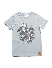 T-Shirt Captain America SS - LEAD BLUE