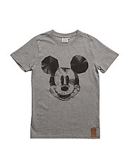 T-Shirt Mickey Triangle - MELANGE GREY