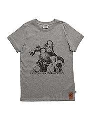 T-Shirt Captain America - MELANGE GREY