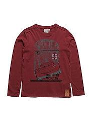 T-Shirt Lightning Mcqueen - DARK RED
