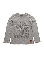 T-Shirt Sven og Olaf - MELANGE GREY