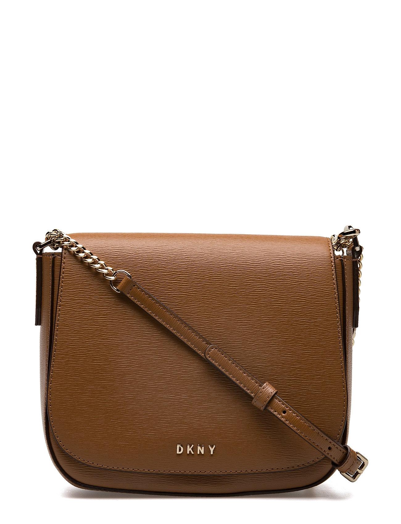 Medium Flap Saddle C DKNY Bags Små tasker til Damer i Kamel
