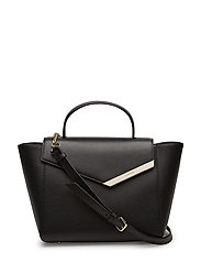 LARGE FLAP SATCHEL - BLACK