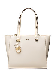 LYNN DOUBLE ZIP TOTE - IVORY