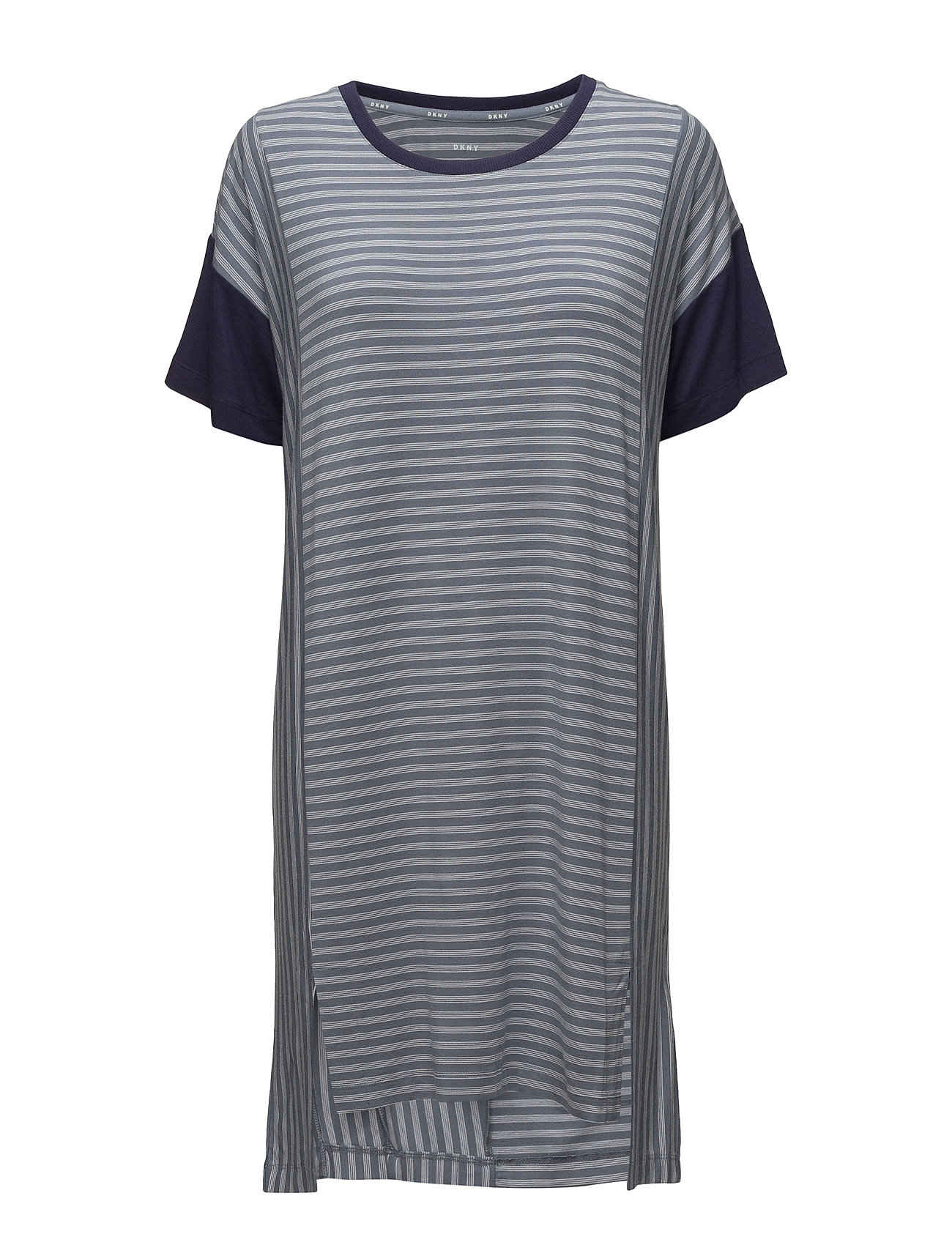 Dkny City Stripes Sleepshirt S/Sleeve DKNY Homewear Nattøj til Damer i Blå Stripe