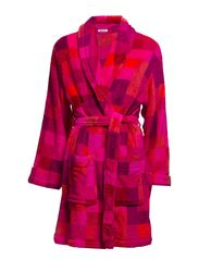 DKNY FROM N.Y. WITH LOVE ROBE 36 INCH - PINK PIXEL PRINT