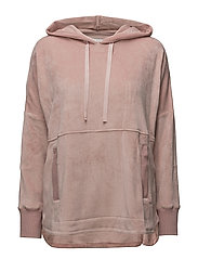 DKNY ELEVATED LEISURE LONG SL. HOODIE - SHELL