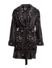 DKNY SNOW DAY ROBE 36 INCH - BLACK