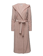 DKNY ELEVATED LEISURE ROBE W/HOOD 117 CM - SHELL