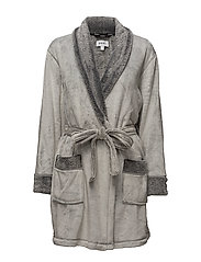 DKNY SIGNATURE ROBE L/S 91,5CM - FROST GREY
