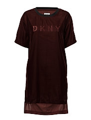 DKNY LOOK OF LUXE 1/2 SL. SLEEPSHIRT - OXBLOOD