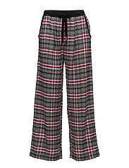 DKNY CHECKED IN PANT - CERISE