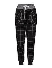 DKNY REWORKED CLASSICS SLEEP JOGGER - BLACK CHECK
