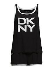 DKNY NOLITA GIRL TANK&BOXER SET - BLACK