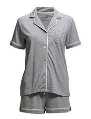 DKNY SIGNATURE BOXER PJ SET - GREY HEATHER