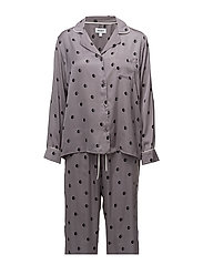 DKNY THE MATCH UP PJ SET L/SLEEVE - SHADOW DOT