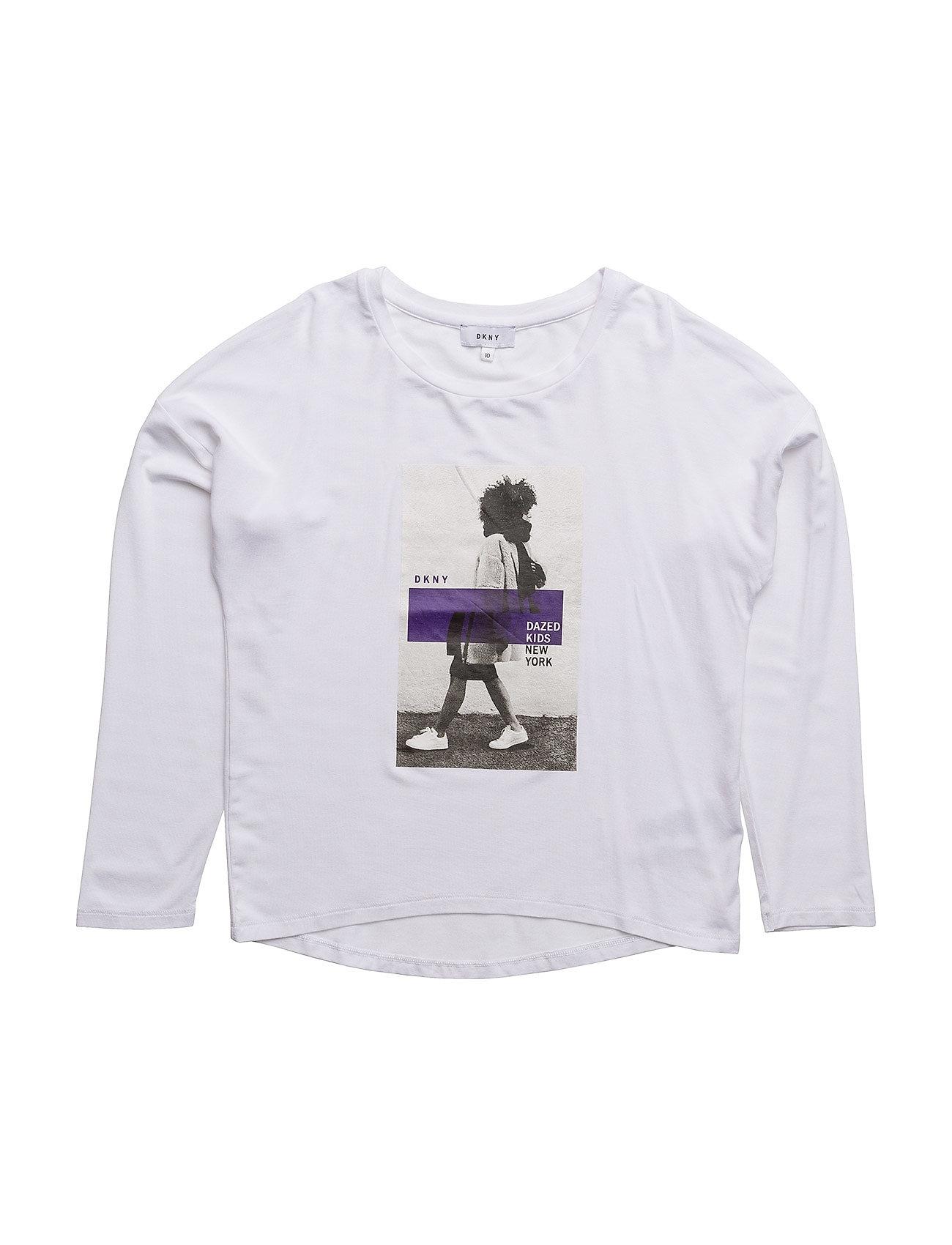Long Sleeve T-Shirt DKNY kids Langærmede t-shirts til Børn i hvid