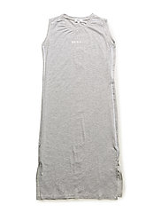 SLEEVELESS DRESS - CHINE GREY