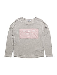 LONG SLEEVE T-SHIRT - LIGHT GREY MARL