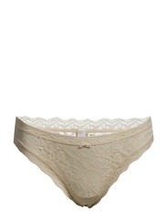 SIGNATURE LACE THONG - DK PRETTY NUDE