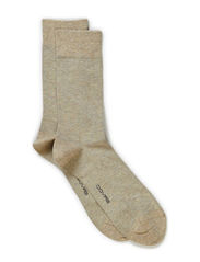 COTTON PLAIN SOCK - Sand