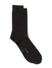 COTTON PLAIN SOCK - Black