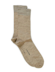 NO LASTEX PLAIN SOCK WOOL - Sand