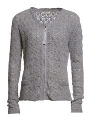 Hulda 1 Cardigan - Light grey melange