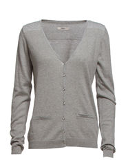 Ilvia 2 Cardigan - Light grey melange
