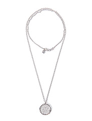 ROYERE METAL NECKLACE - SHINY SILVER CRYSTAL