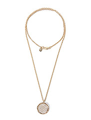 ROYERE METAL NECKLACE - SHINY GOLD CRYSTAL
