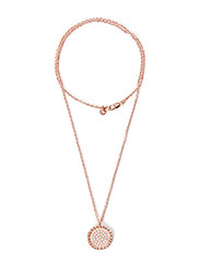 ROYERE METAL NECKLACE - ROSE GOLD CRYSTAL