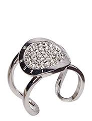 GLOSSARY RING - SHINY SILVER CRYSTAL