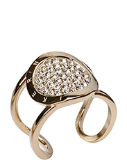 GLOSSARY RING - SHINY GOLD CRYSTAL