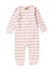 Nima bodysuit l/s, l/l - Pink nude/heather lilac