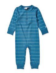 Nima bodysuit l/s, l/l - Steel blue/ice blue