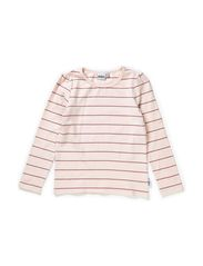 Nelly t-shirt l/s girl puffsl - Pink nude/heather lilac