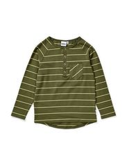 Noak t-shirt grandpa l/s - Mossgreen/lemon lime