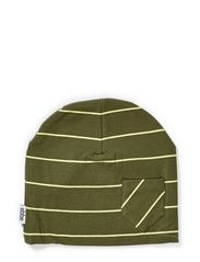 Neo beanie - Mossgreen/lemon lime
