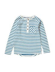 Nord t-shirt grandpa l/s - Offwhite/steel blue